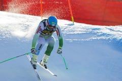 奥迪FIS高山滑雪的世界杯-下坡的人的Kline Bostjan 免版税库存照片