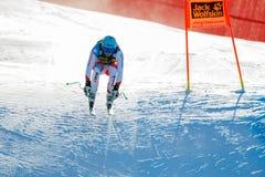 奥迪FIS高山滑雪的世界杯-下坡的人的Kueng帕特里克 图库摄影