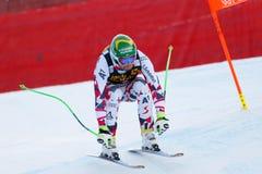 奥迪FIS高山滑雪的世界杯-人的下坡R Kroell克劳斯 图库摄影