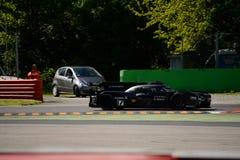 奥迪R18 e-tron Quattro测试在蒙扎 免版税库存照片
