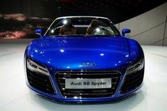 奥迪R8 Spyder敞篷车跑车 免版税库存照片