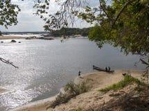 奥里诺科河阿亚库乔港Amazonas状态委内瑞拉 免版税图库摄影
