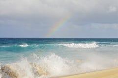 奥阿胡岛北部岸,夏威夷 免版税图库摄影