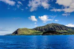 奥阿胡岛海岸视图 免版税库存图片