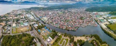 奥隆阿波市在菲律宾 免版税图库摄影