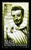 奥雷斯特Kirkop歌剧歌手,马尔他个性2002年serie画象,大约2002年 库存照片