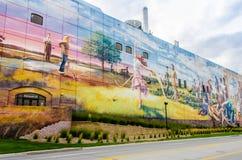 奥马哈墙壁上的项目:肥沃的土地 免版税库存照片