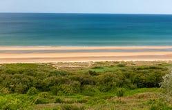 奥马哈海滩,圣徒劳伦特苏尔梅尔,诺曼底,法国 免版税库存图片