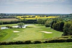 奥马哈海滩高尔夫俱乐部诺曼底法国 免版税库存照片