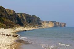 奥马哈海滩,诺曼底,法国 库存图片