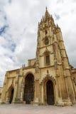 奥维耶多的大教堂,阿斯图里亚斯-西班牙 库存图片