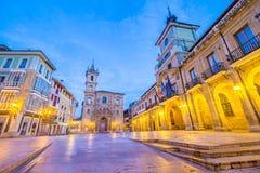 奥维耶多的广场市长 免版税库存照片