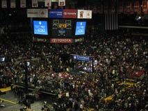 奥巴马的在马里兰大学的compaign集会2008年 免版税库存照片