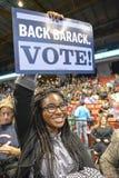 奥巴马的表决 免版税库存照片