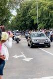 奥巴马总统汽车队在哈瓦那,古巴2016年 免版税库存照片