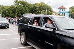 奥巴马总统汽车队在哈瓦那,古巴2016年 库存图片