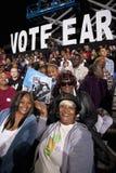 奥巴马总统黑白支持者 免版税库存照片