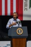 奥巴马Speaking总统第20个每年太浩湖山顶的5 库存照片