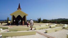 女低音aruba教堂远景 库存照片