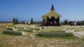 女低音aruba教堂远景 图库摄影