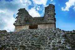 女修道院四边形,乌斯马尔,墨西哥的废墟, 库存图片