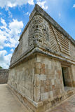 女修道院四边形,乌斯马尔,墨西哥的废墟, 图库摄影