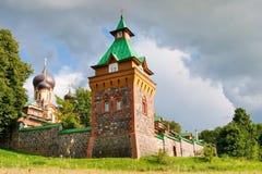 女修道院爱沙尼亚puhtitsa 图库摄影