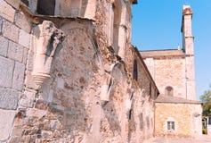 女修道院的修道院的遗骸 库存图片