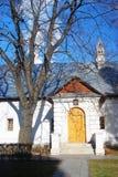 女修道院novodevichy的莫斯科 蓝天 大结构树 库存图片