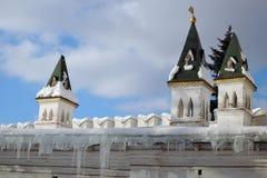 女修道院novodevichy的莫斯科 颜色冬天照片 库存图片