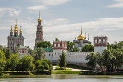 女修道院novodevichy的莫斯科 库存图片
