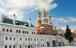 女修道院novodevichy的莫斯科 库存照片