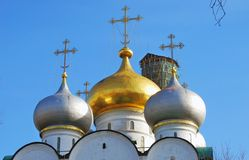 女修道院novodevichy的莫斯科 免版税库存图片
