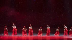 女傧相未婚的女性中国民间舞 免版税图库摄影