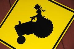女儿农夫标志 免版税库存图片