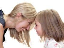 女儿妈妈 免版税库存图片
