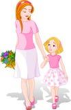 女儿妈妈 向量例证