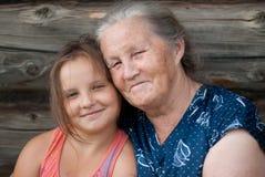 女儿年长全部妇女 免版税库存照片