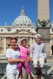 女儿母亲广场pietro ・圣儿子 库存照片