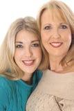 女儿母亲照片 免版税图库摄影