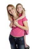 女儿母亲统一性 免版税库存图片