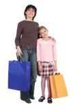女儿母亲购物 免版税库存照片