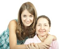 女儿母亲年轻人 库存照片