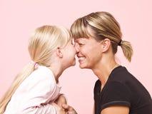 女儿母亲 免版税库存照片