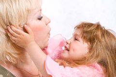 image photo : Mother and daughter