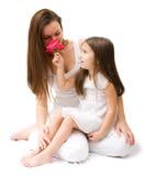 女儿母亲 免版税库存图片