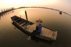 女儿渔夫 免版税库存图片