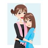 女儿爱母亲 向量例证