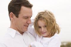女儿父亲 免版税库存照片