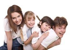 女儿系列父亲愉快的母亲儿子 免版税库存照片